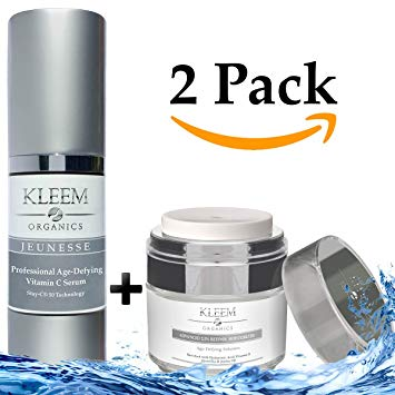 5.Organic Anti Aging Skin Care Set for Men & Women - Vitamin C Serum & Retinol Moisturizer - This Will Be Your Best Daily Skin Care Routine