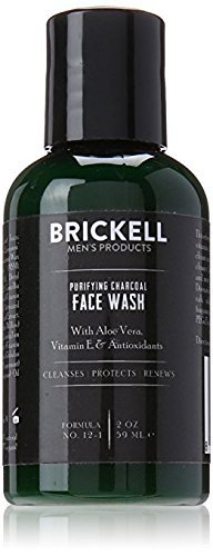 Brickell Men's Purifying Charcoal Face Wash for Men – Natural & Organic Facial Cleanser – 2 oz
